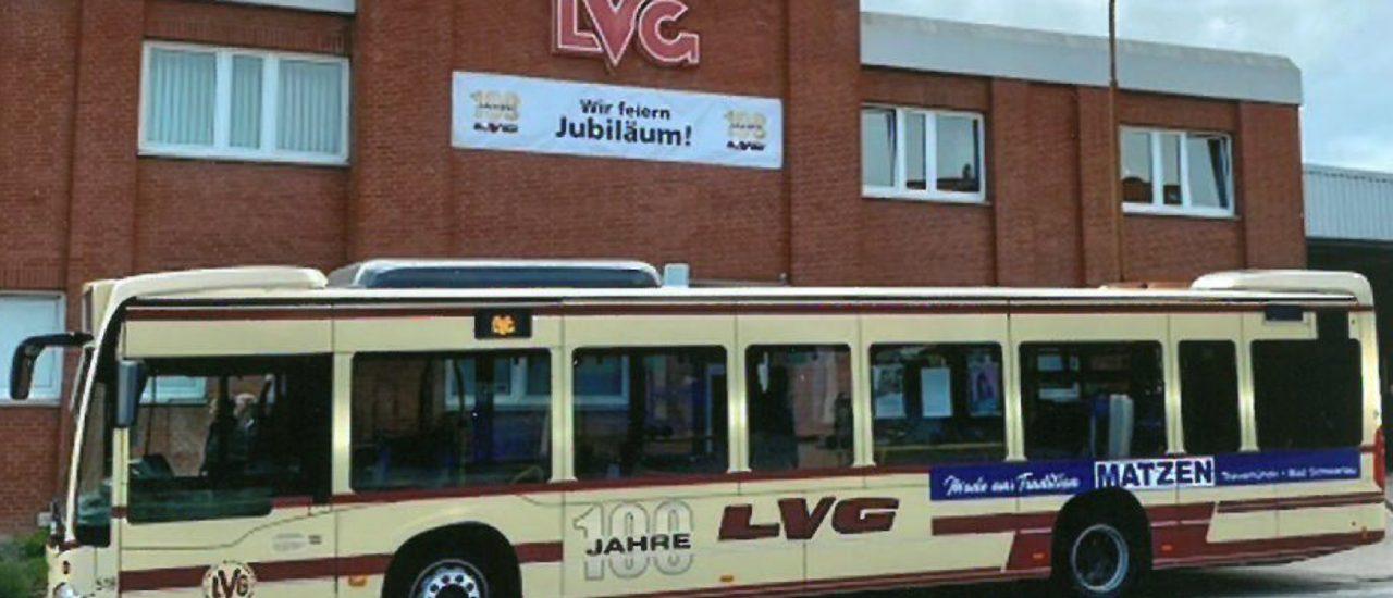 Retro-Bus erinnert an 100 Jahre LVG